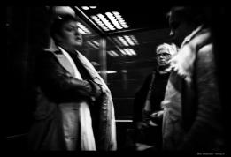 dans l'ascenseur