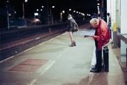 en attente du train