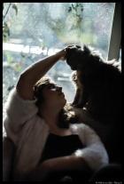 ma fille et mon chat